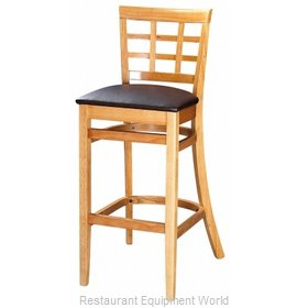 Selected Furniture 4080BS-CH-BUCKSKIN Wood-frame Bar Stool