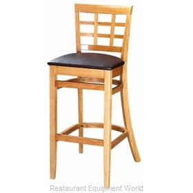 Selected Furniture 4080BS-MA-BLACK Wood-frame Bar Stool