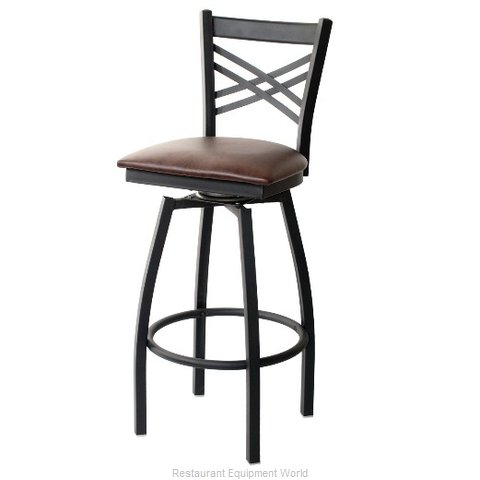 Selected Furniture 800-212V-DARKMAHOGANY Swivel Bar Stool