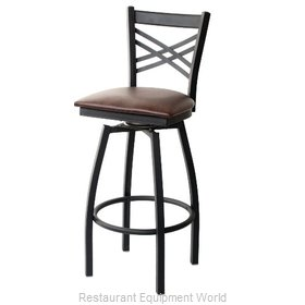 Selected Furniture 800-212V-MAHOGANY Swivel Bar Stool