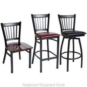 Selected Furniture 800-309V-BLACK Swivel Bar Stool