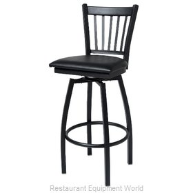 Selected Furniture 800-309V-DARKMAHOGANY Swivel Bar Stool