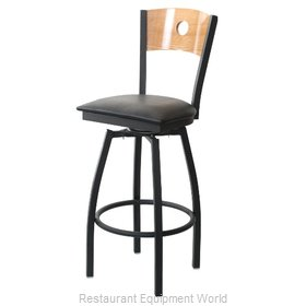 Selected Furniture 800-315V-A-BLACK Wood-back Swivel Bar Stool