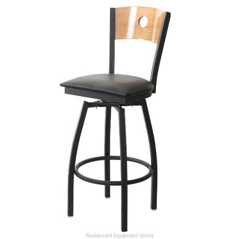 Selected Furniture 800-315V-A-WINE Wood-back Swivel Bar Stool