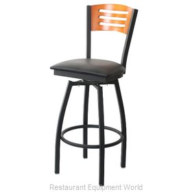 Selected Furniture 800-315V-B-BLACK Wood-back Swivel Bar Stool