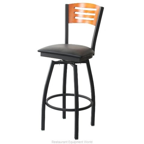 Selected Furniture 800-315V-B-WINE Wood-back Swivel Bar Stool (Magnified)