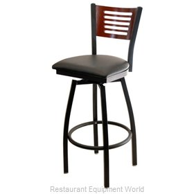 Selected Furniture 800-315V-C-WINE Wood-back Swivel Bar Stool