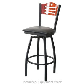 Selected Furniture 800-315V-F-BLACK Wood-back Swivel Bar Stool