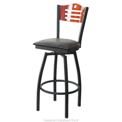 Selected Furniture 800-315V-F-BUCKSKIN Wood-back Swivel Bar Stool