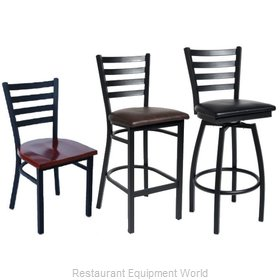 Selected Furniture 800-316V-BLACK Swivel Bar Stool