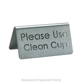 Service Ideas 1C-BF-CLEANCUP-MOD Tabletop Sign, Tent / Card