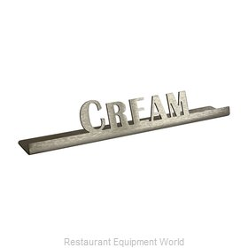 Service Ideas 1C-BF-CREAM-SIGN Tabletop Sign, Tent / Card