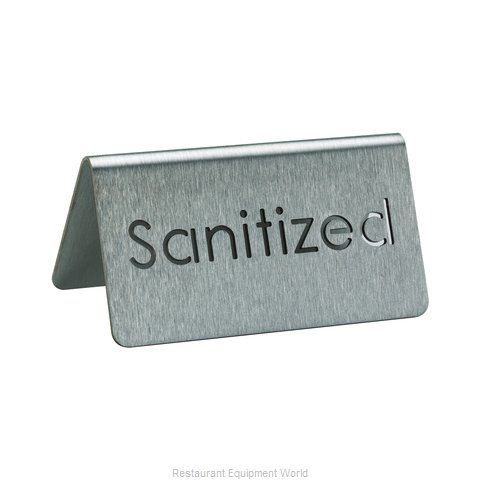Service Ideas 1C-BF-SANITIZED-MOD Tabletop Sign, Tent / Card