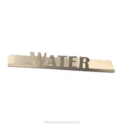 Service Ideas 1C-BF-WATER-SIGN Tabletop Sign, Tent / Card