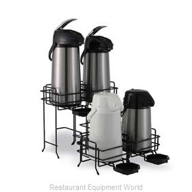 Service Ideas AWRT1BL Airpot Serving Rack