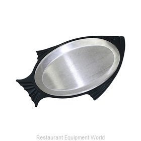 Service Ideas FP1BLAC Sizzle Thermal Platter