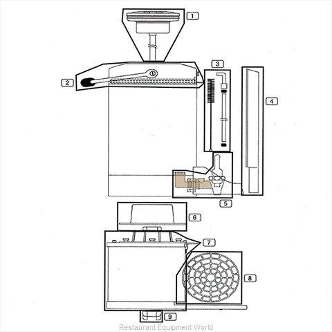 Service Ideas GIUFAUCV2 Beverage Dispenser, Faucet / Spigot