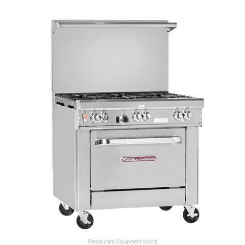 Southbend 4363C-2CL Range 36 2 open burners 24 char-broiler (Magnified)