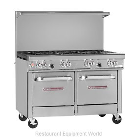 Southbend 4482AC-2CR Range 48 4 open burners 24 char-broiler