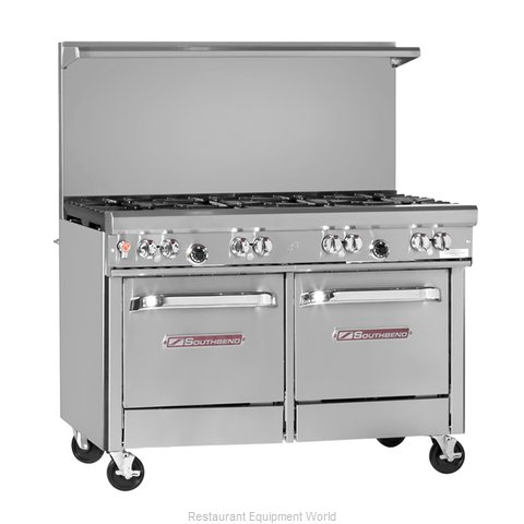 Southbend 4483AC-2CR Range 48 4 open burners 24 char-broiler