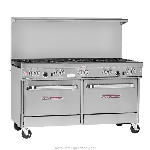 Southbend 4604DD-3CR Range 60 4 open burners 36 char-broiler