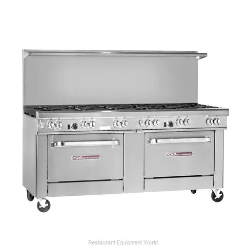 Southbend 4725DD-3CR Range 72 8 open burners 36 char-broiler