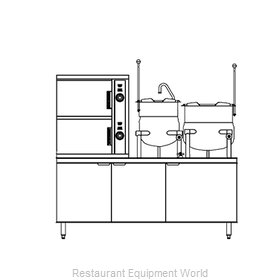 Southbend DCX-10S-6-6 Steamer Kettle Combination, Direct Steam