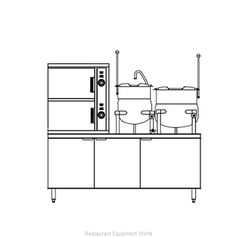Southbend DCX-2S-6-6 Steamer Kettle Combination, Direct Steam