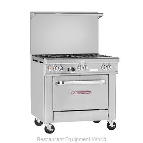 Southbend H4365A Range 36 Restaurant Gas Electric