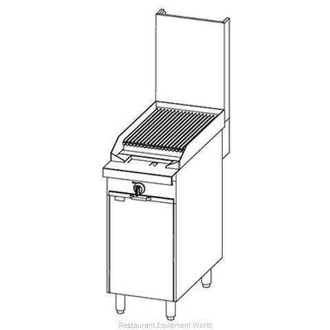 Southbend P16C-C Char Broiler Gas Heavy Duty Range 16