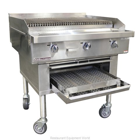 Southbend P36W-CCC Charbroiler, Wood Burning