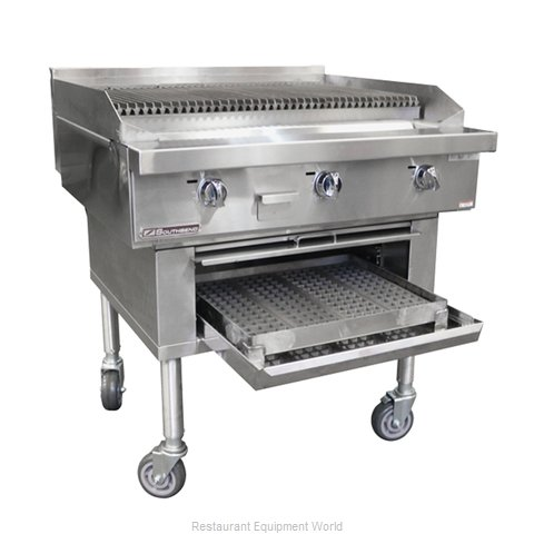 Southbend P48W-CCCC Charbroiler, Wood Burning