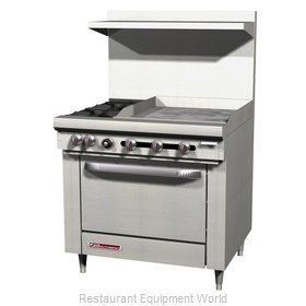 Southbend S36C-1GL Range 36 4 open burners 12 griddle