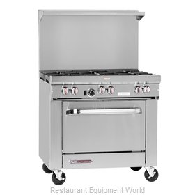 Southbend S36C-2TR Range 36 2 open burners 24 griddle w thermostats