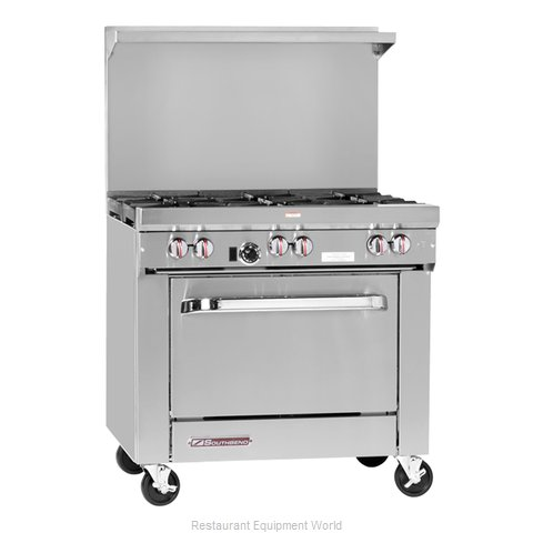 Southbend S36D-2TR Range 36 2 open burners 24 griddle w thermostats