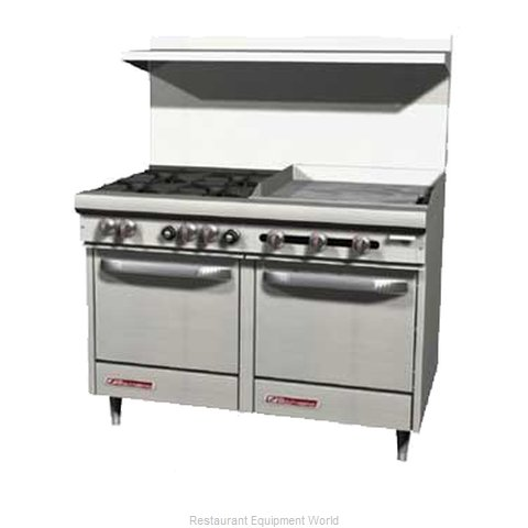 Southbend S48DC-2TR Range 48 4 open burners 24 griddle w thermostats