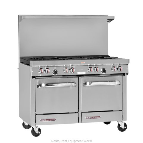 Southbend S48DC-3TL Range 48 2 open burners 36 griddle w thermostats