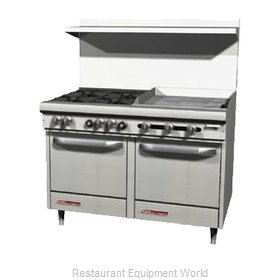 Southbend S48DC-3TR Range 48 2 open burners 36 griddle w thermostats