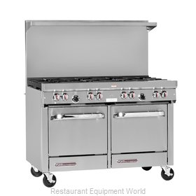 Southbend S48EE-3TL Range 48 2 open burners 36 griddle w thermostats