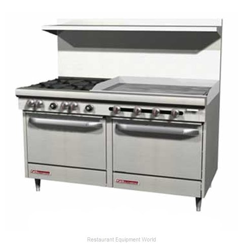 Southbend S60AC-3GR Range 60 4 Open Burners 36 Griddle (Magnified)