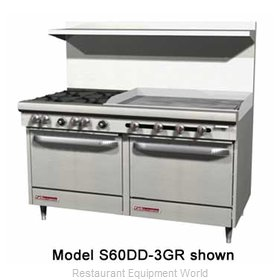 Southbend S60AC-4G Range 60 2 open burners 48 griddle
