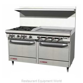Southbend S60DC-3TR Range 60 4 Open Burners 36 Griddle w thermostat