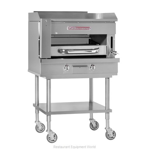Southbend SSB-36 Griddle on Overfire Broiler, Gas, Countertop