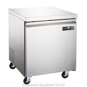 Spartan Refrigeration SUF-27 Freezer, Undercounter, Reach-In