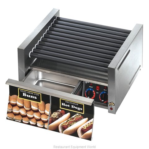 Star 30SCBD Hot Dog Roller Grill (Magnified)