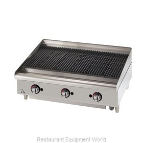 Star 6036CBF Charbroiler, Gas, Countertop