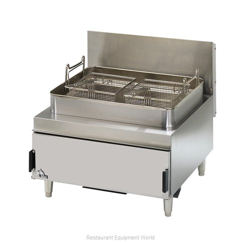 Star 630FF Fryer Counter Unit Gas Full Pot