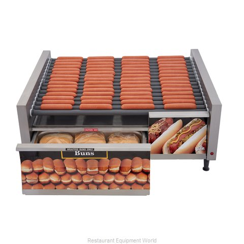 Star 75SCBDE Hot Dog Grill (Magnified)