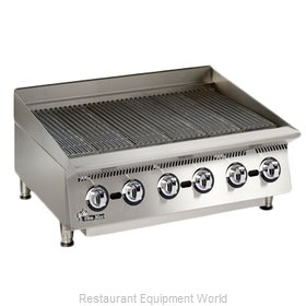 Star 8136RCBA Charbroiler Gas Counter Model