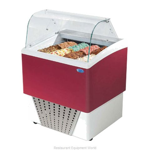 Stoelting BRIO 4+4-302 Display Case Gelato Ice Cream Dipping Cabinet (Magnified)